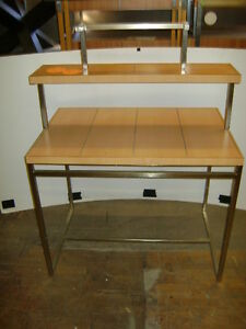 DOUBLE TIER RETAIL DISPLAY TABLE