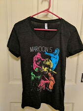 Maroon 5 T Shirt Tour 2015-Girls Xl-Dark Grey-Thin & Soft