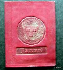 """Vintage Harvard College 1910 Leather Seal Patch 2 1/2"""" by 2"""""""