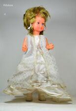 Bambola Matrimonio anni'50 celluloide Ratti/Athena doll Abito sposa vintage-11C