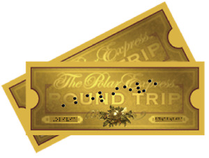 Polar Express Train Ticket  EMBOSSED BRAILLE Personalised add Name TACTILE BLIND