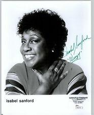 "ISABEL SANFORD, ""WEEZY"" (DECEASED) SIGNED 8X10 JSA AUTHENTICATED COA #N50175"