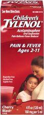 5 Pack - TYLENOL Children's Pain - Fever Relief, Cherry Blast Liquid, 4oz Each