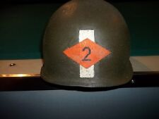 WWII 2ND RANGERS LIEUTENANT ARMY M-1 MILITARY  HELMET