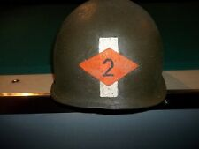 WWII 2ND RANGERS LIEUTENANT ARMY M-1 MILITARY  HELMET