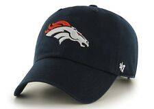 Denver Broncos 47 Brand Clean Up MVP Adjustable On Field Soft Cotton Hat Cap NFL