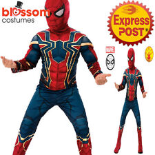 CK1258 Iron Muscle Chest Spiderman Avengers Infinity War Boys Costume Spider-man