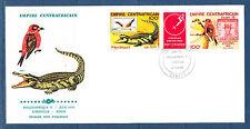Centrafrique  enveloppe 1er jour  Philexafrique  tryptique  oiseau    1978