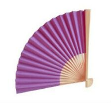 DEEP PURPLE Paper Fan Beach Wedding Fans Favors