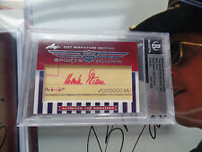 Hank Stram RED INK Auto 2010 Leaf RAZOR Cuts Autograph signed 1970 Super Bowl