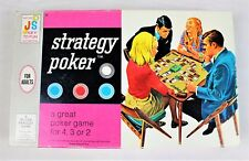 Strategy Poker Game by Milton Bradley Rare Board Game 1967 COMPLETE