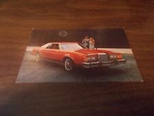 1979 Mercury Cougar 2-Door Sedan Original Advertising Postcard