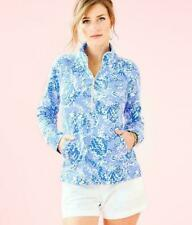 LILLY PULITZER SKIPPER TURTLEY AWESOME BLUE PERI LUXLETIC ACTIVEWEAR POPOVER  XL