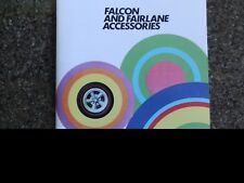 1972 FORD FALCON AND FAIRLANE ACCS ''RARE'' SALES  BROCHURE.  100% GUARANTEE.