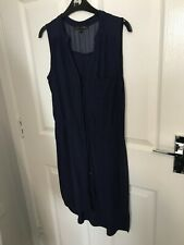 Next Petite Size 12 Navy Button Front Dress