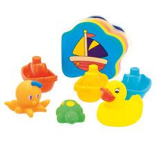 Badewanne Spielzeug 7 tlg. Kinder Badespielzeug Wasserspielzeug Boot & Badeente