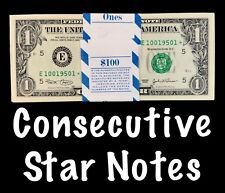 2003 Richmond 1$ Consecutive Star Notes From BEP Strap Replacement Notes UNC E3