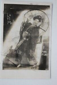 36866 Foto mit Autogramm LOTIMA MARA VILLAS Tanz chinesischer Fächer um 1922