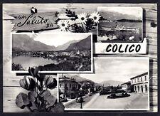 LECCO COLICO 21 SALUTI da... VEDUTINE Cartolina FOTOGRAFICA viaggiata 1957