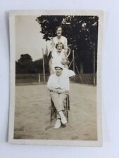Vintage BW Real Photo #AT: Wigston Fields Leicester Tennis Club 1934