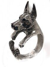Doberman Sterling Silver Ring