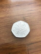 50p UK In EEC 25 Years 1998 EU Stars Fireworks Fifty Pence Coin -Circulated
