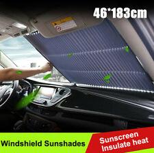 Car Retract Folding Rear Window Sun Shade Block Visor Folding  Windshield Cover