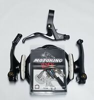 MOTOKING BMX PRO 8 V-BRAKE KIT BLACK/WHITE FITS - Redline,Haro,SE,dk,GT,Mongoose