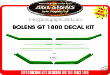 BOLENS GT1800 TRACTOR DECAL SET,  GT2000 DG1800 DGT1700 reproduction