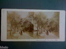 STC090 Nice Boulevard Dubouchage personnages animé stereoview photo STEREO