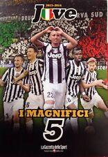 LIBRO BOOK FC JUVENTUS CAMPIONE D'ITALIA 2013/2014 I MAGNIFICI 5 VIDAL LLORENTE