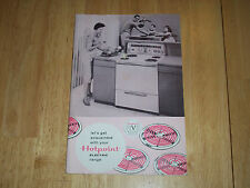 Vintage Hotpoint Electric Range Instruction & Recipe Booklet 5 Million Series
