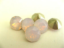 12 Rose Water Opal Foiled Swarovski Crystal Chaton Stone 1088 39ss 8mm Chatons