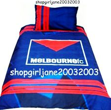 Melbourne Demons FC Large Logo AFL Ш Double/Full Bed Quilt Doona Duvet Cover Set