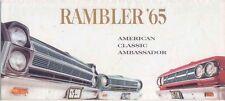 AMC Rambler American Classic Ambassador 1965 Original Export Foldout Brochure
