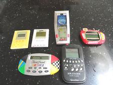 6 Handheld Games Yahtzee Hangman Pinball Solitaire Trivia Pursuit Electronic Lot