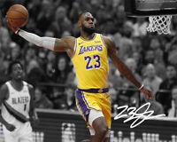 Lebron James LA Lakers The Dunk Photo Print  8x10 auto  SWEET! Signed Reprint