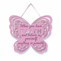 When You Have Faith Hanging Plaque With Ribbon More Than Words Gift