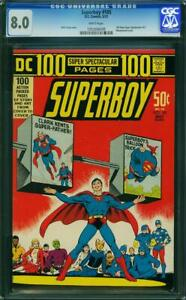 SUPERBOY 185 CGC 8.0 WHITE  1972 100 PAGES  A1