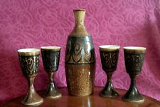 Iden/Rye Pottery Carafe AND 4 Goblets Incredible Value