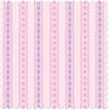 """Creative Imaginations 12"""" x 12""""  Scrapbook Paper Pink Stripe Die Cut Bella"""