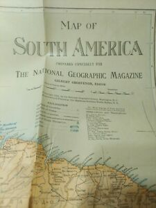 National Geographic Magazine Supplement 1921 South America Map