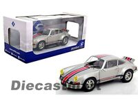 Solido 1:18 1973 Porsche 911 RSR Silver Diecast Model Car New S1801112