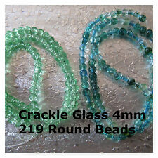 219 Glass Beads Round Spacer Green Blue 3-4mm Beads Small Jewelry Beads