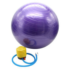 Fitness Exercise Stability Ball Purple 55cm Yoga Pilates Anti Burst w/ Pump