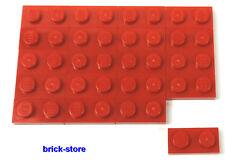 LEGO / 1x2 plaques rouge / 20 pièces