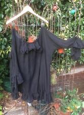 RITANOTIARA OSFA COTTON GOTHIC POET PIRATE TOP SHIRT WENCH GYPSY BLACK OVERSIZED
