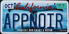 """CALIFORNIA """" WILDLIFE WHALE - COAST - DISCONTINUED ! CA Specialty License Plate"""