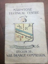 More details for maidstone technical centre - war damage commission menu - lots of signitures !