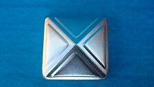 """90mm x 90mm(3.5"""")DECORATIVE PRESSED GALVANISED METAL SQUARE POST FENCE CAP"""